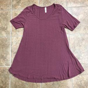 LuLaRoe Mauve RibbedT-Shirt, Size XL